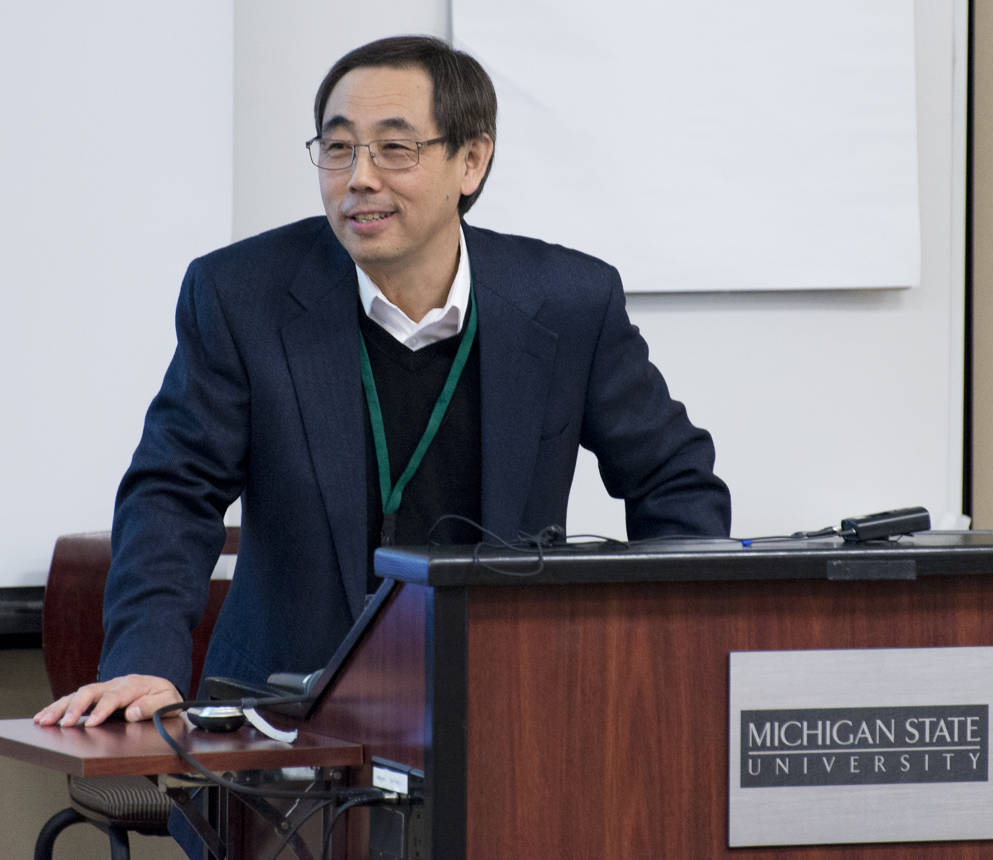 Dr. Qi at the 2015 Future Earth conference